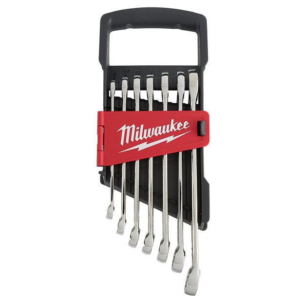 Milwaukee 48-22-9507 7 Piece Combination Wrench Set - Metric
