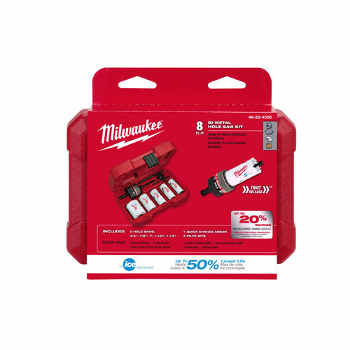 Milwaukee 49-22-4005 9 Piece General Purpose Hole Dozer Hole Saw Kit