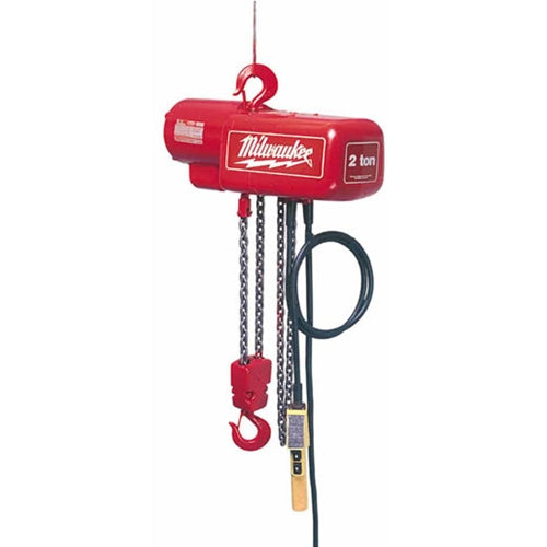 Milwaukee 9565 Professional Electric Chain Hoist - 1 Ton Capacity, 10Ft. Lift