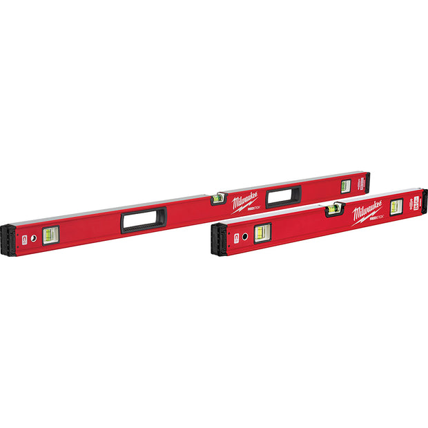 "Milwaukee MLBXSM48 24"" / 48"" REDSTICK Magnetic Box Level Set"