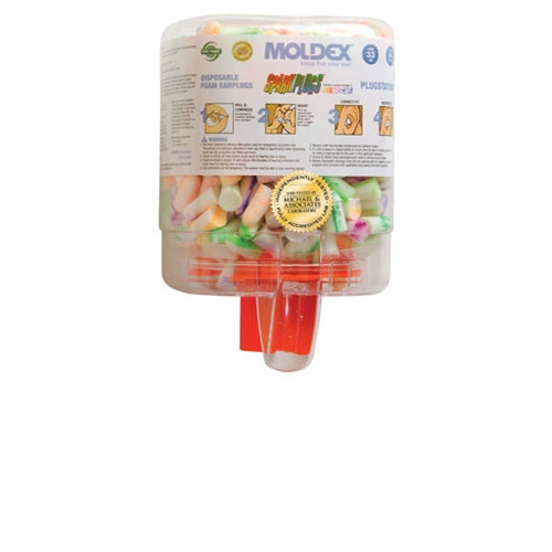 Moldex 6644 Sparkplug Ear Plugs with Plugstation