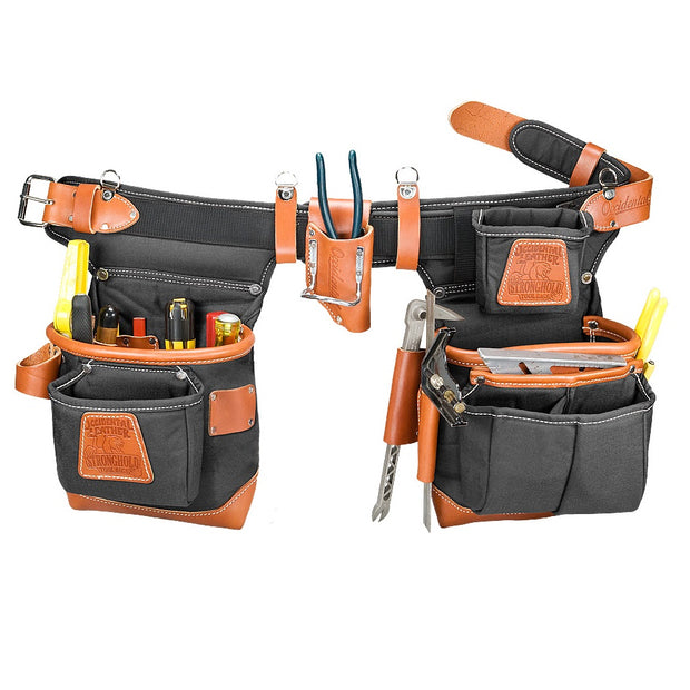 Occidental Leather 9850LH Black Left Handed Adjust-to-Fit FatLip Tool Belt Set