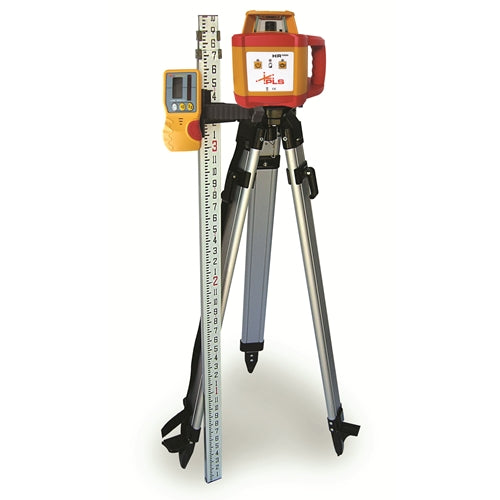 Pacific Laser Systems PLS HR 1000 Red Self-Level Horizontal Rotary Laser Level Kit Tripod PLS-60585