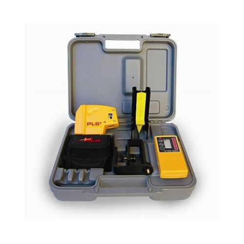 Pacific Laser Systems PLS 5 Red 5-Point Self-Level Laser Level, Plumb, Square, Detector PLS-60542