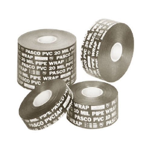 "Pasco 9064 4"" x 50 ft 20mil Pipe Wrap Tape"