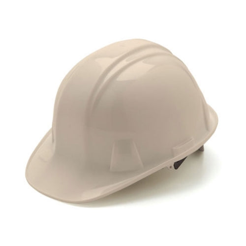 Pyramex HP14110 Cap Style Hard Hat 4 Point Snap Lock Suspension - White