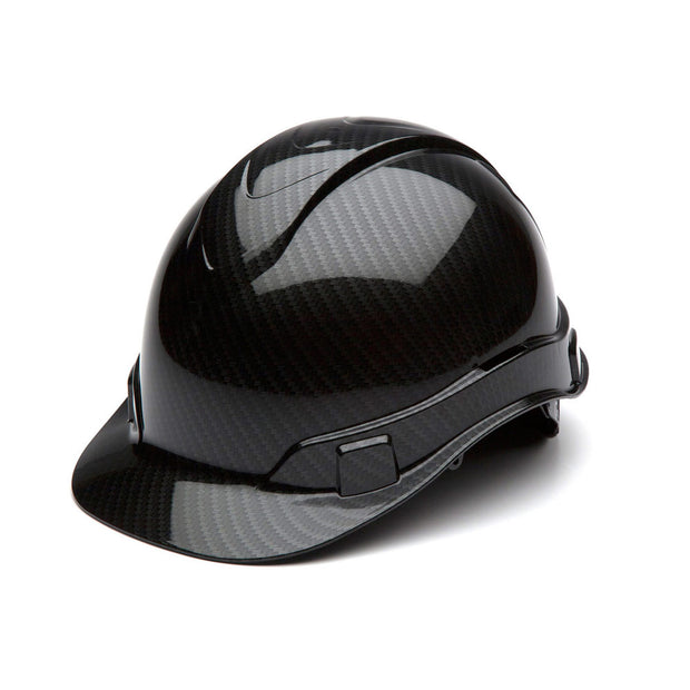 Pyramex HP44117S Ridgeline Shiny Graphite Cap Style Hard Hat, 4 Pt Ratchet