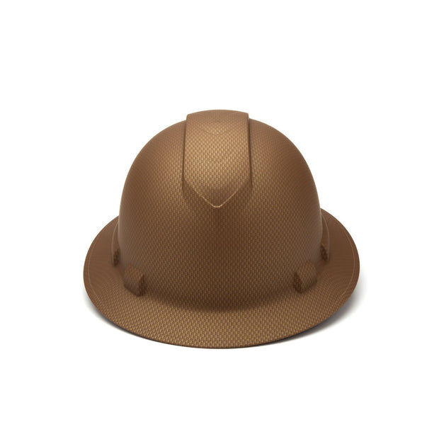 Pyramex HP54118 Ridgeline Copper Brown Full Brim Hard Hat, 4 Pt Ratchet