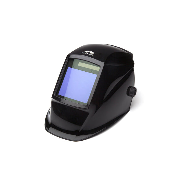 Pyramex WHAM3030GB Glossy Black Auto Darkening Welding Helmet, Manual 98 x 87mm