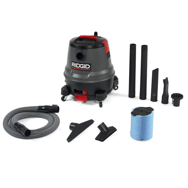 Ridgid 50333 1250RV 12 Gallon Motor-On-Bottom Wet/Dry Vac