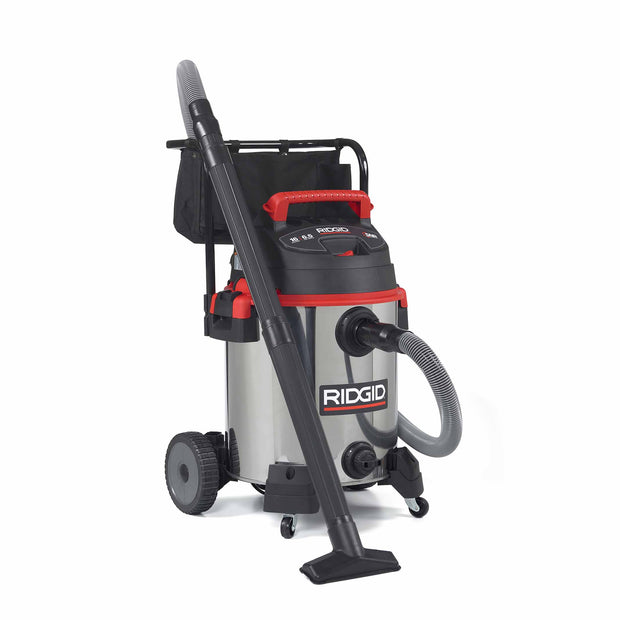 RIDGID 50353 1610RV 16 Gal Red Stainless Steel Wet/Dry Vac