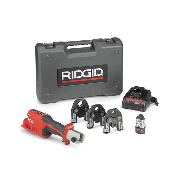 "RIDGID 57373 RP 241 Compact Press Tool Kit with 1/2""-1"" ProPress Jaws"