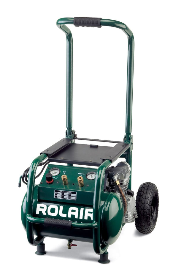 Rolair VT25BIG 2.5 HP 5.3 Gal Wheeled Compressor with Overload Protection and Manual Reset