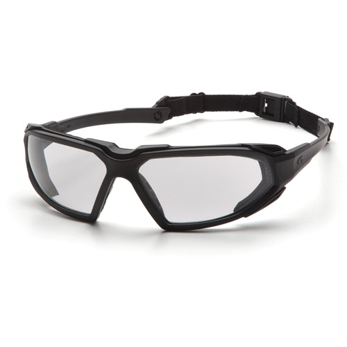Pyramex SBB5010DT Highlander Clear Anti-Fog Lens with Black Frame