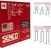 "SENCO L17BAB 18 Gauge Galvanized Staple 1/4""Crown x 1-1/2""Leg"