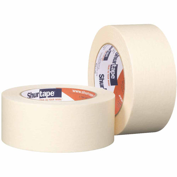 "Shurtape 104468 CP 105 Gen. Purp. Med-High Adhesion 2"" Masking Tape, 48mm x 55m"