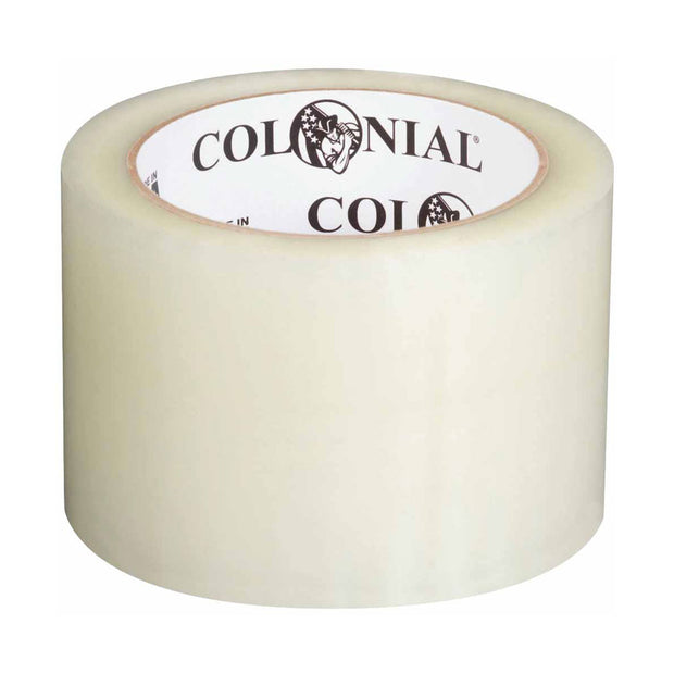 "Colonial 104616 3"" Packaging Tape, Clear, 72mm x 100m"