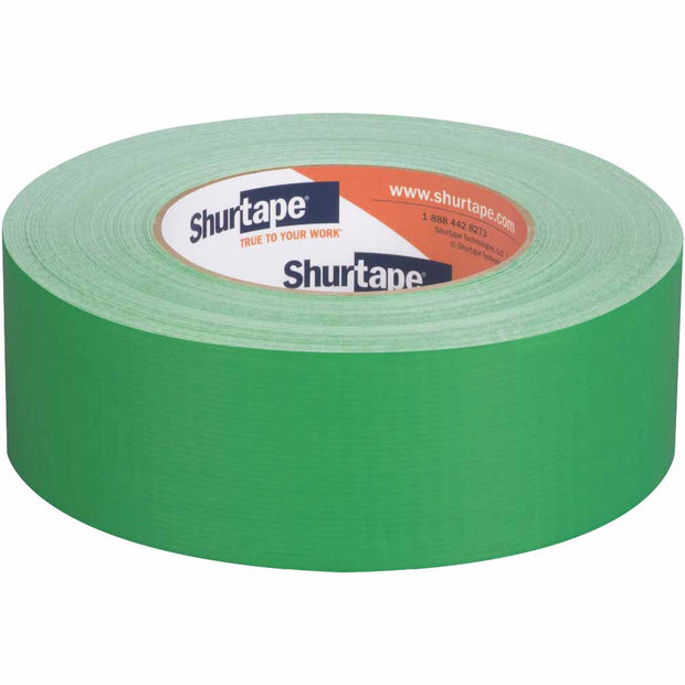 "Shurtape 203677 PC 618 Performance 2"" Cloth Duct Tape, Green, 48mm x 55m"