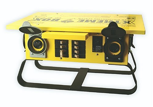 Southwire 1960 Xtreme Box Twist-Lock Portable Temp Power Distributor Box