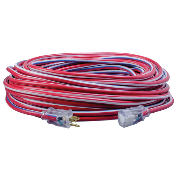 Southwire 2549SWUSA1 100' 12/3 Stripes & Cool Colors Outdoor Extension Cord