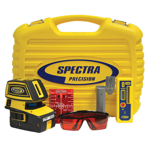 Spectra Precision Laser LT52-2 Point And Line Generator Package