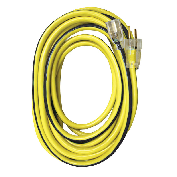 VOLTEC 05-00364 25ft 12/3 SJTW Yellow/Black Ext Cord w/Lighted Ends