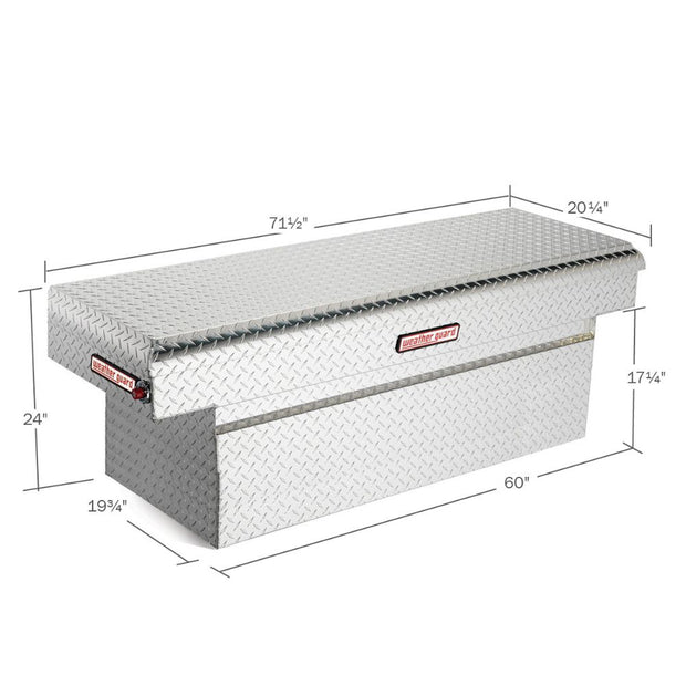 Weather Guard 123-0-01 Clear Aluminum Full Extra Deep Saddle Box, 15.1 cu ft (Full Size Trucks)