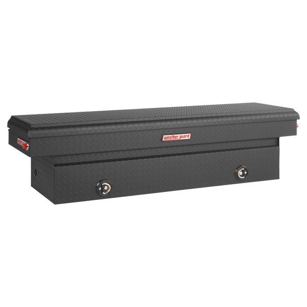 Weather Guard 127-52-02 Black Matte Aluminum Full Standard Saddle Box, 11.3 cu ft