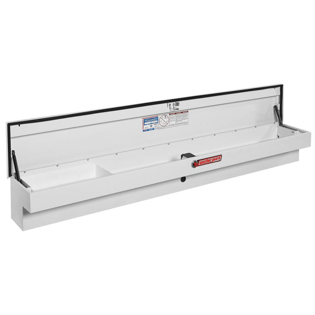 Weather Guard 165-3-01 White Steel Full Lo-Side Box, Long, 6.2 cu ft