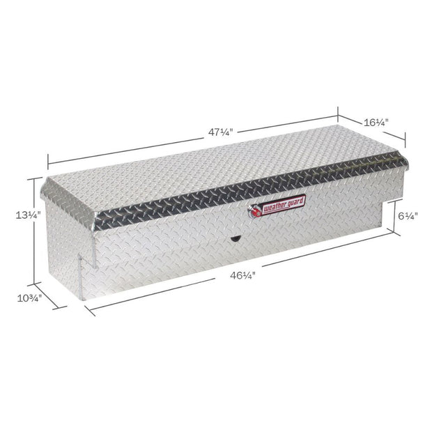 Weather Guard 184-0-01 Clear Aluminum Lo-Side Box, 3.4 cu ft