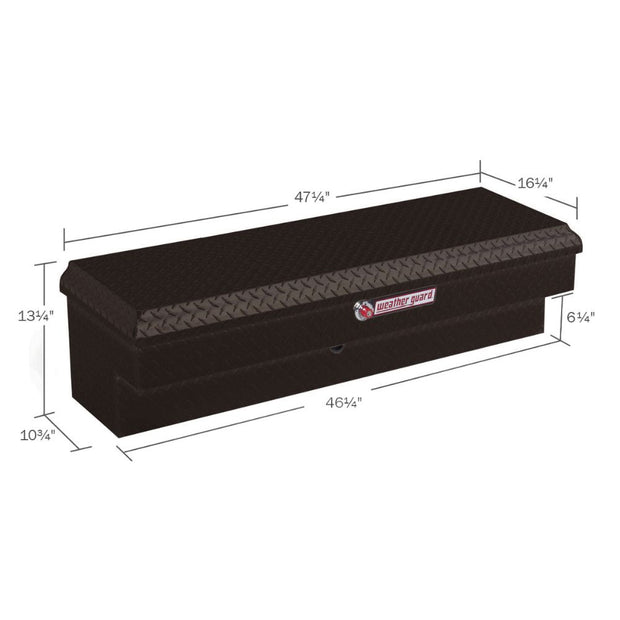 Weather Guard 184-5-01 Black Aluminum Lo-Side Box, 3.4 cu ft