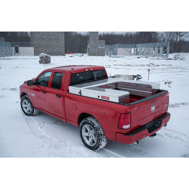 "Weather Guard 300105-9-01 DEFENDER Series Clear Aluminum Full Saddle Box 71"" x 19.7"" x 17.7"""