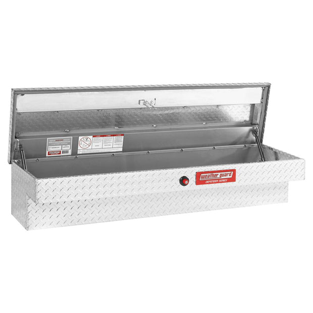 "Weather Guard 300300-9-01 DEFENDER Series Clear Aluminum Standard Lo-Side Box, 60"" x 16.7"" x 12.9"""