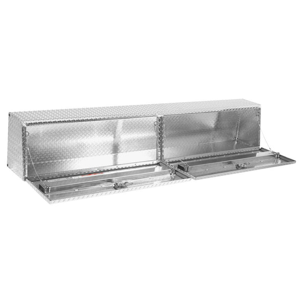 "Weather Guard 300303-9-01 DEFENDER Series Clear Aluminum Long Hi-Side Box 90"" x 13.3"" x 16.1"""