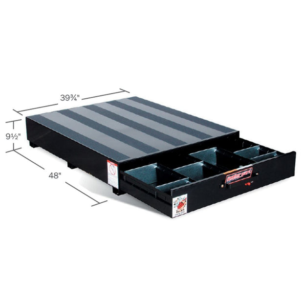 "Weather Guard 308-5 PACK RAT Black Steel Standard Drawer Unit, 48"" x 39.75"" x 9.5"""