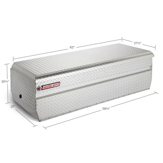 Weather Guard 684-0-01 Clear Aluminum Full Extra-Wide All-Purpose Chest, 18.6 cu ft