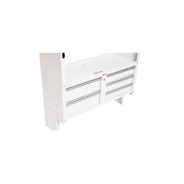 "Weather Guard 9045-3-02 Brite White Armor-TUF 5-Drawer Secure Storage Module, 42"" x 17"" x 16"""