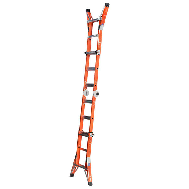 Werner FMT-13 FMT-13 14 ft Reach Type IA Fiberglass Multi-Position Ladder