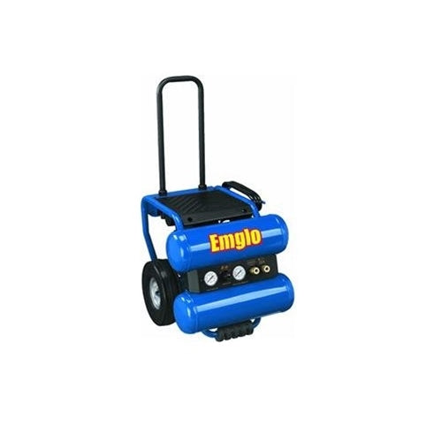 Emglo EM810-4M 4 Gallon Heavy Duty Dolly Style Stacked Tank Compressor
