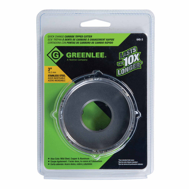 "Greenlee 645-3 3""Carbide tipped Hole Cutter"