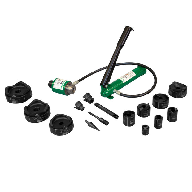"Greenlee 7310SBSP SPEED PUNCH Kit with Hydraulic Pump & Ram, 1/2"" to 4"" Conduit"