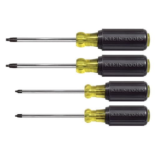 Klein 85664 4 Piece Square Recess Screwdriver Set