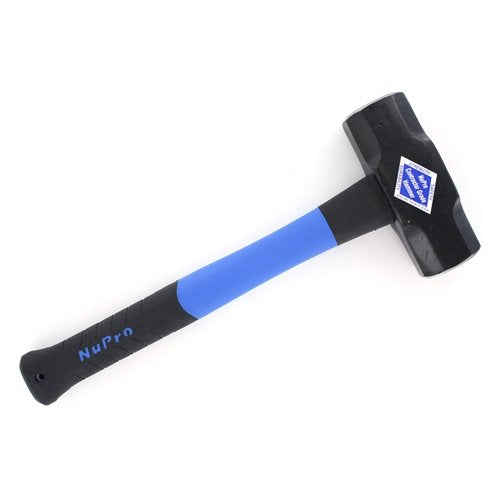 "Nupla 25804 8lb Nupro Blacksmith's Double-Face Sledge Hammer, 16"" Handle"