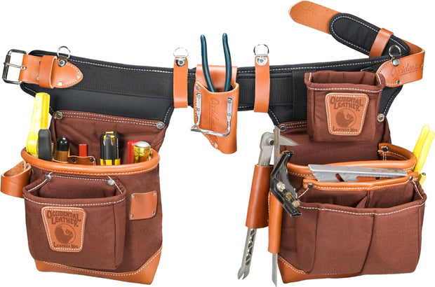 Occidental Leather 9855LH Café Left Handed Adjust-to-Fit FatLip Tool Belt Set