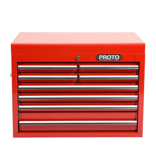 Proto J442719-8RD 26-1/4W X18D X 19H Red 8-Drawer Chest