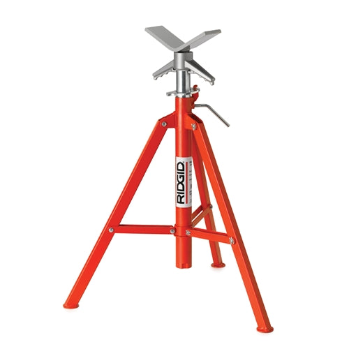 RIDGID 22168 VF-99 V-Head Folding High Pipe Stand, 12""