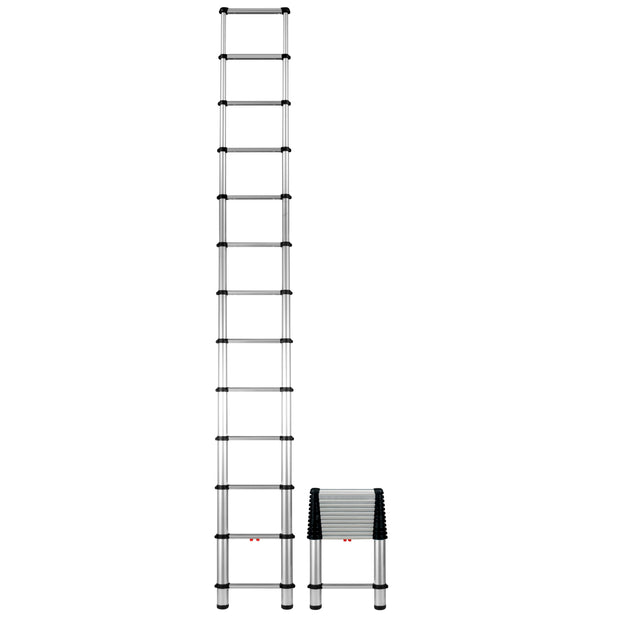 "TeleSteps 1600E 30""-12.5' Telescopic Ladder, 250 lbs rating"