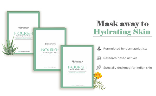 Berkowits Advance Hydrating Face Mask - Pack of 6 Face Mask Sheet Combo
