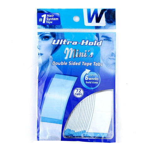 WALKER TAPE Plastic Ultra Hold Mini Tabs-Tape (72 Tabs, Transparent)