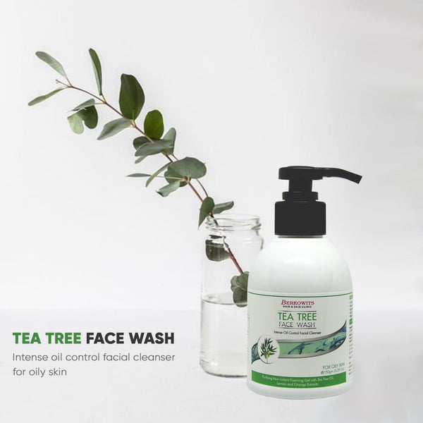 Berkowits Tea Tree Face Wash For Oily Skin - (150g)